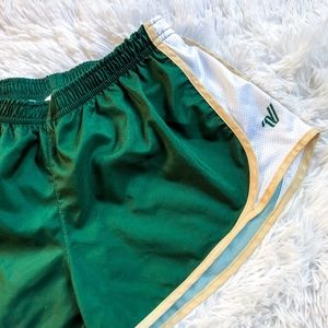 VARSITY | Green + Gold Spirit Cheer Shorts - XS